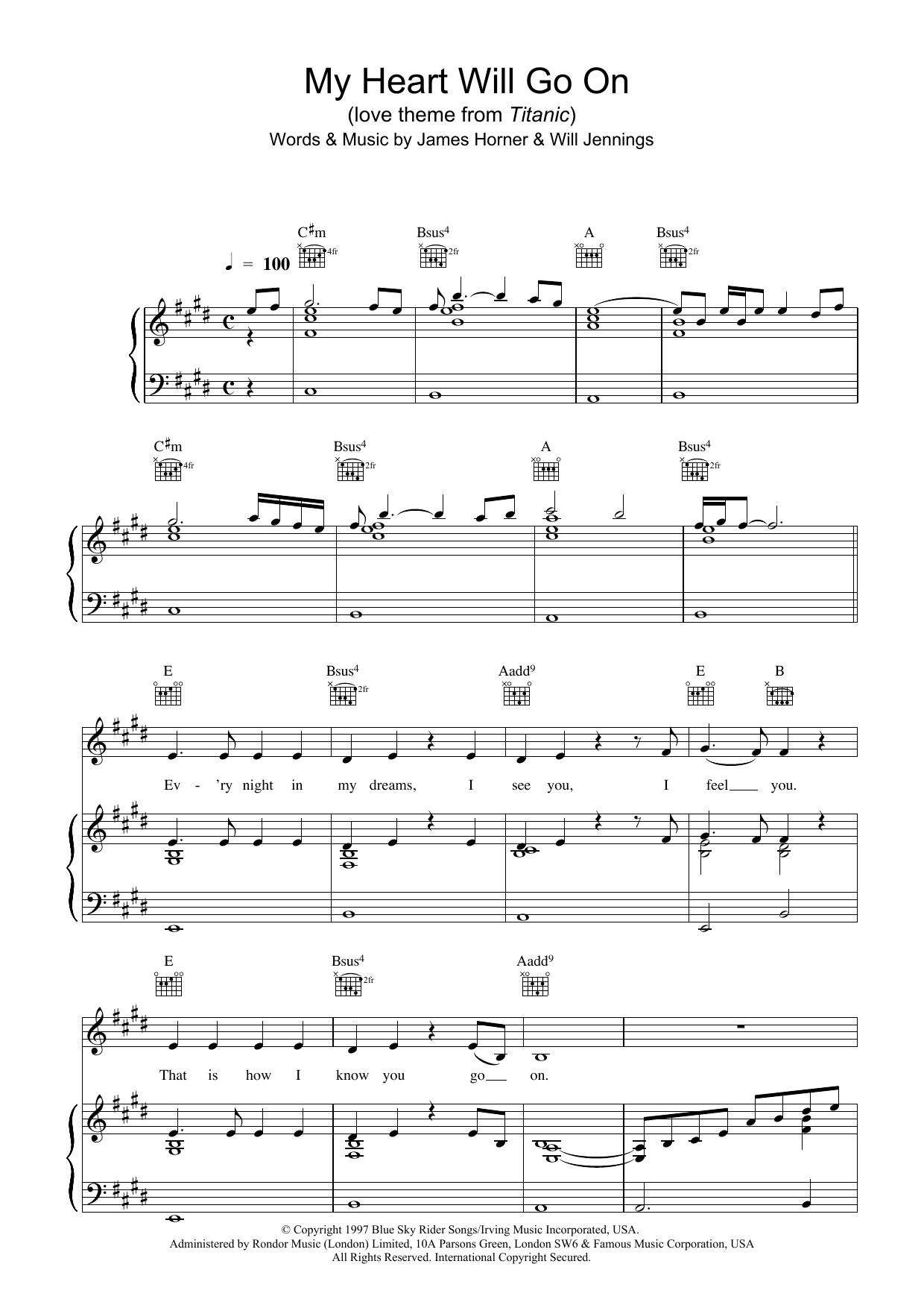 graphic regarding My Heart Will Go on Piano Sheet Music Free Printable referred to as My Center Will Shift Upon (Get pleasure from Topic Towards Titanic)
