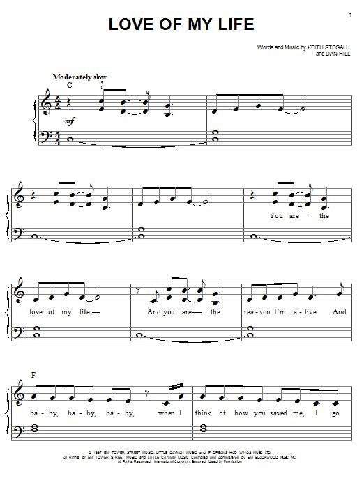 Love of my life jim brickman piano sheet music