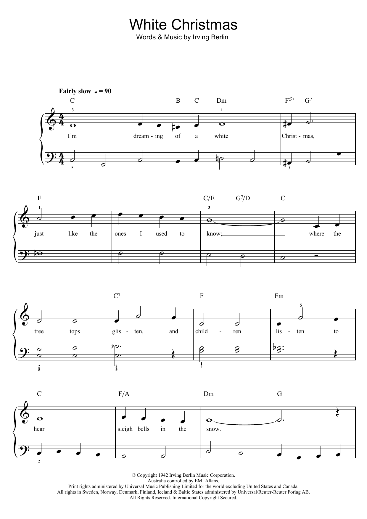 White Christmas Sheet Music by Eric Clapton for Piano/Vocal/Guitar - Noteflight Marketplace