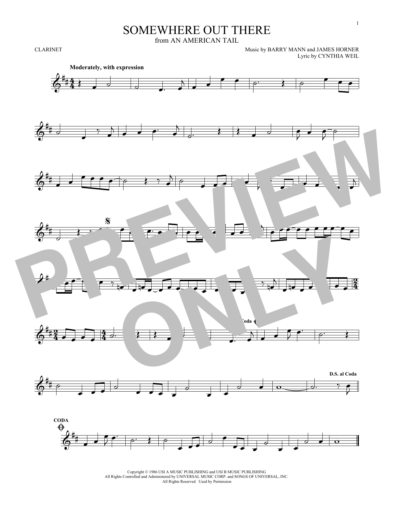 Somewhere Out There Learn An American Tale PIANO Guitar PVG Music Book