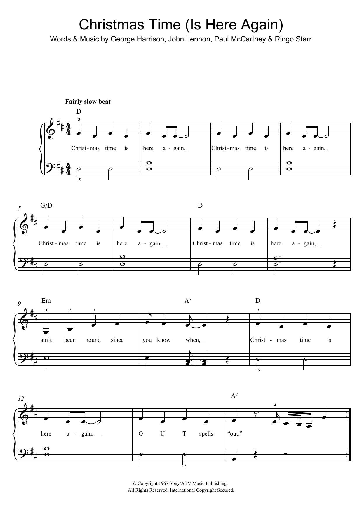 Christmas Time Is Here Sheet Music.Christmas Time Is Here Again
