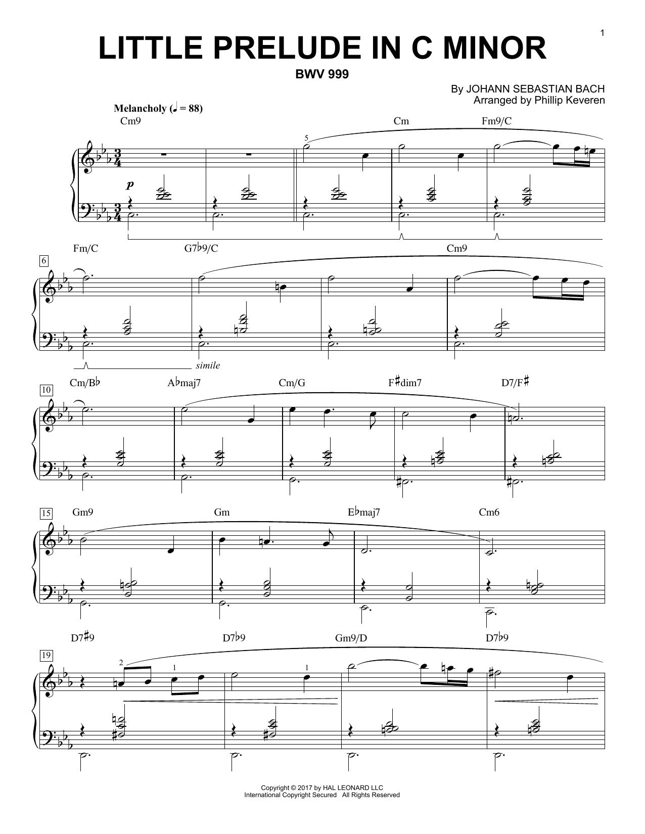 Little Prelude in C Minor, BWV 999