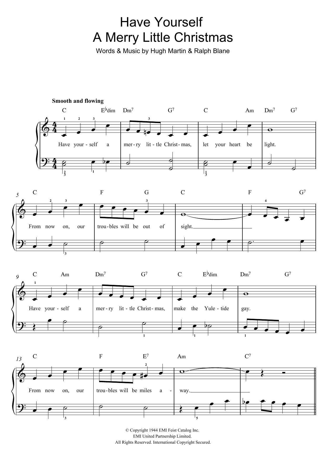 Have Yourself A Merry Little Christmas Sheet Music by Frank Sinatra for Solo - Noteflight Marketplace