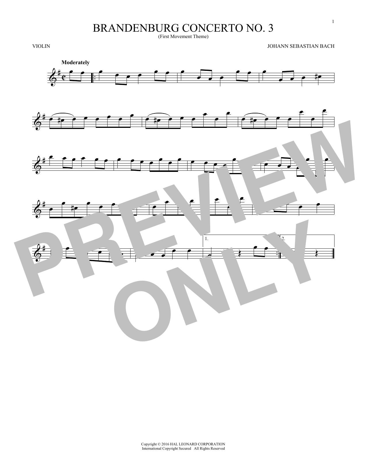 Brandenburg Concerto No  3