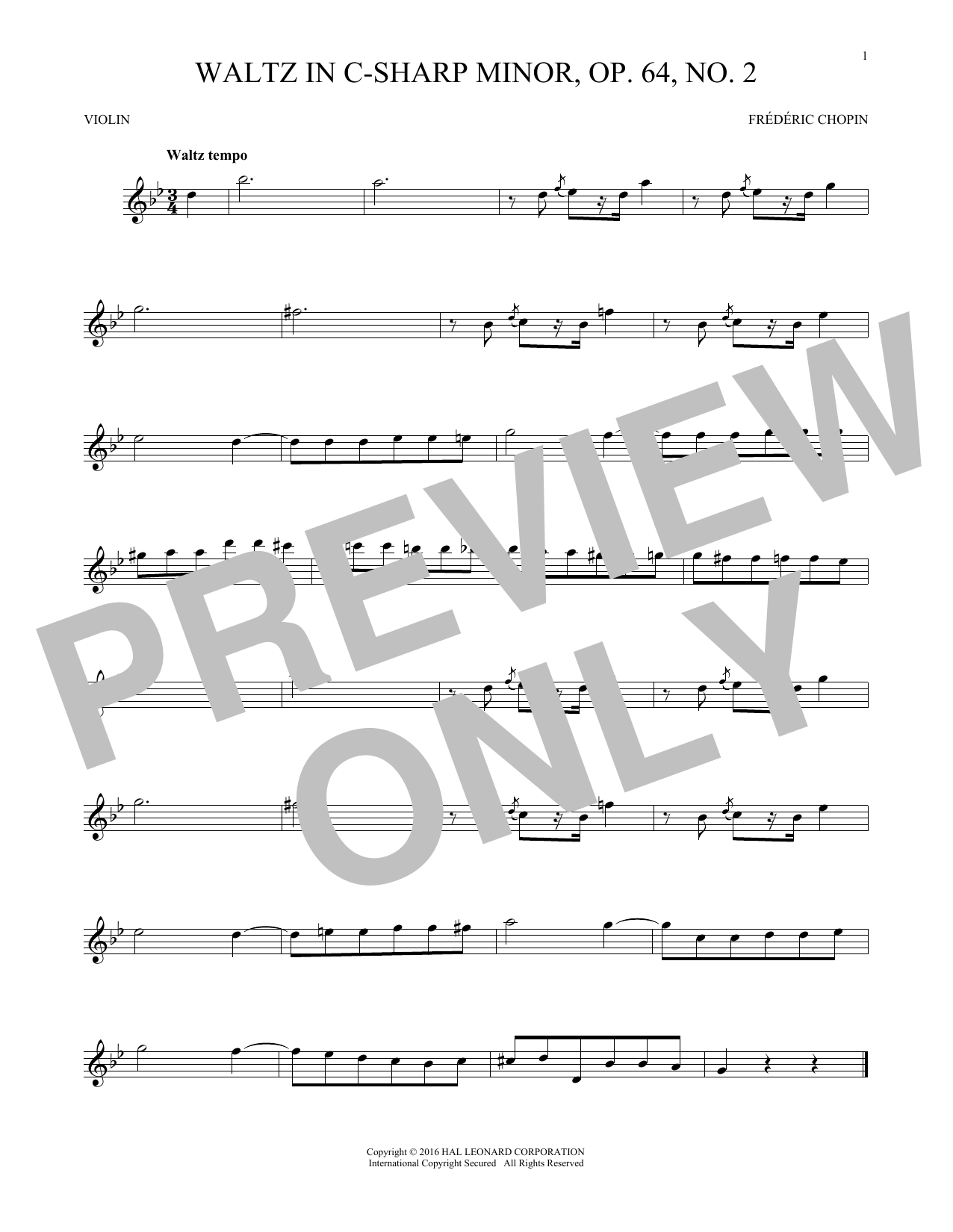 Waltz In C-Sharp Minor, Op  64, No  2