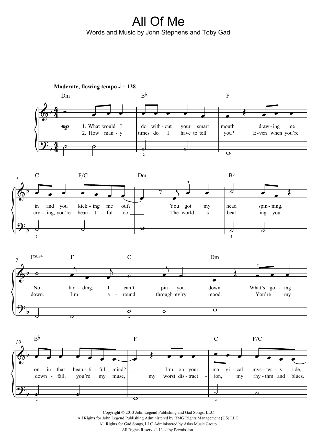 All Of Me Piano Sheet Music all of me