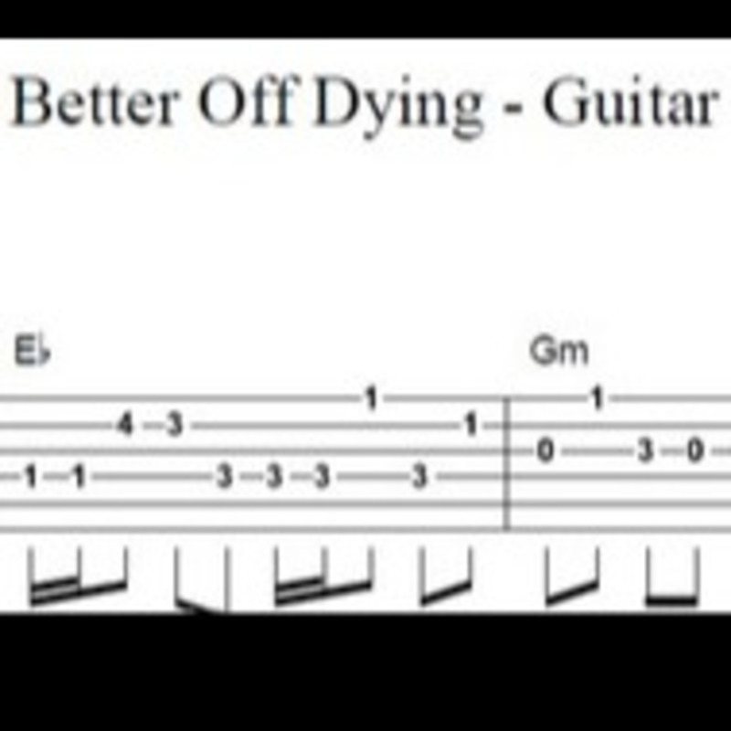 Better Off Dying Guitar Sheet Music By Bsr For Guitar Tab And Piano Keyboard Noteflight Marketplace